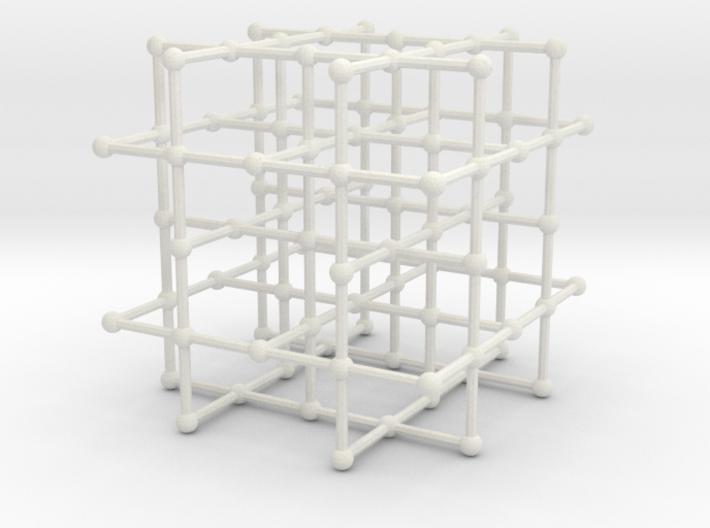 4-regular grid subgraph 3d printed