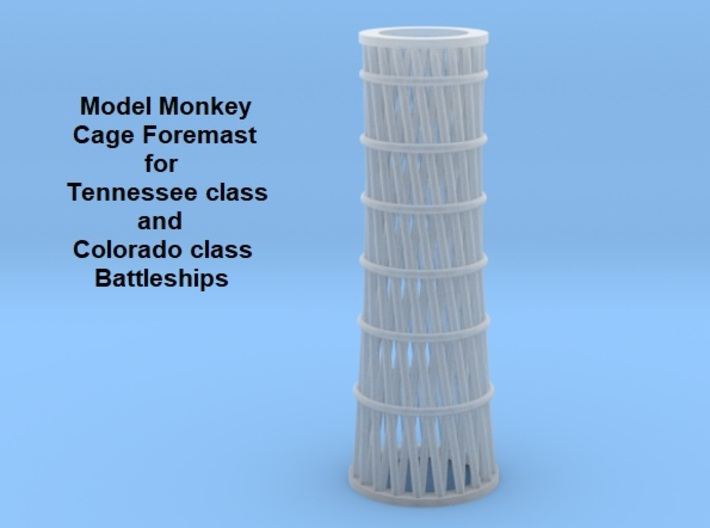 1/350 Tennessee and Colorado class Cage Foremast 3d printed