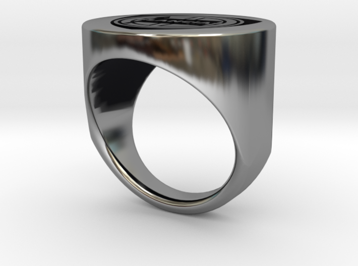 Lancia College Ring inverted V2 3d printed