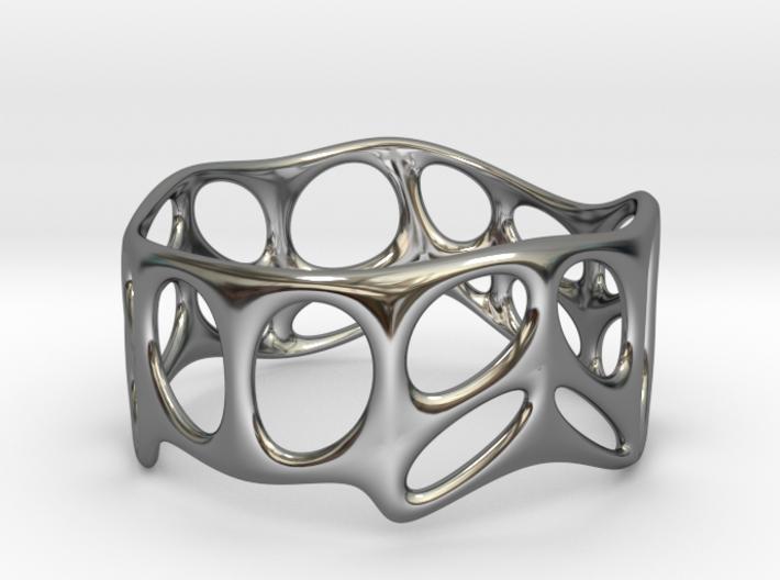 Voronoi Wire Bracelet (001c) 3d printed