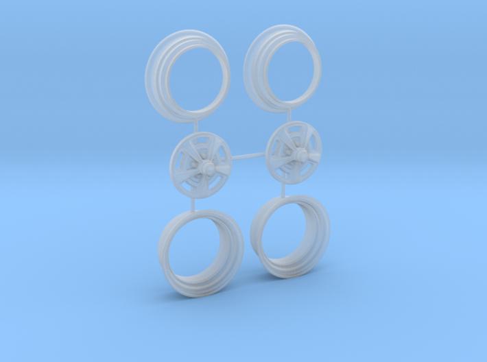 1/25 HQ GTS Wheels 8x14 2up 3pc 3d printed