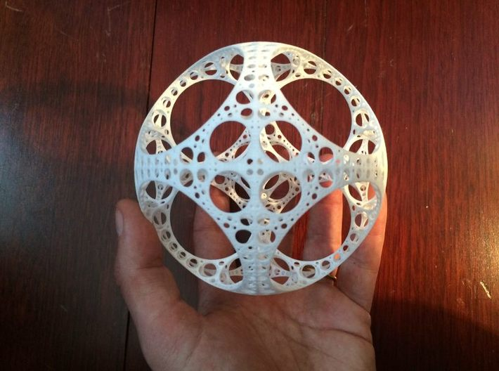 Apollonian Octahedron 3d printed White Strong & Flexible