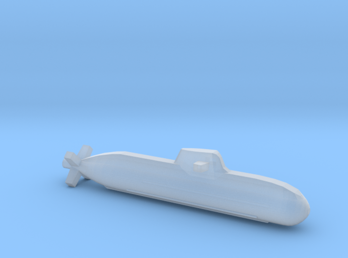 Type 212 submarine, Full Hull, 1/1800 3d printed
