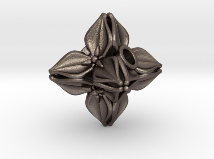 Floral Bead/Charm - Octahedron 3d printed