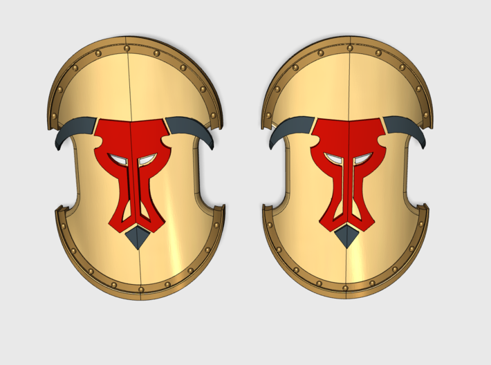 Minotaurs - Trojan Power Shields (L&R) 3d printed (x10) 5 Left and 5 Right Handed Shields