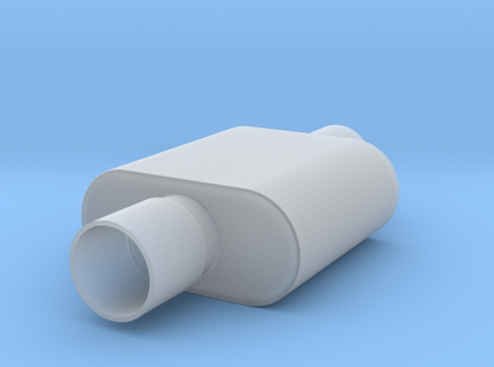 1/12 Scale 1 Chamber Flowmaster Muffler 3d printed