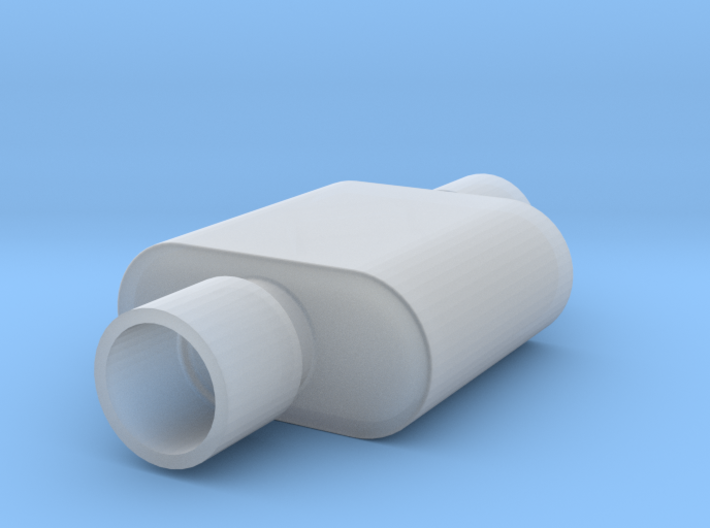 1/24 Scale 1 Chamber Flowmaster Muffler 3d printed