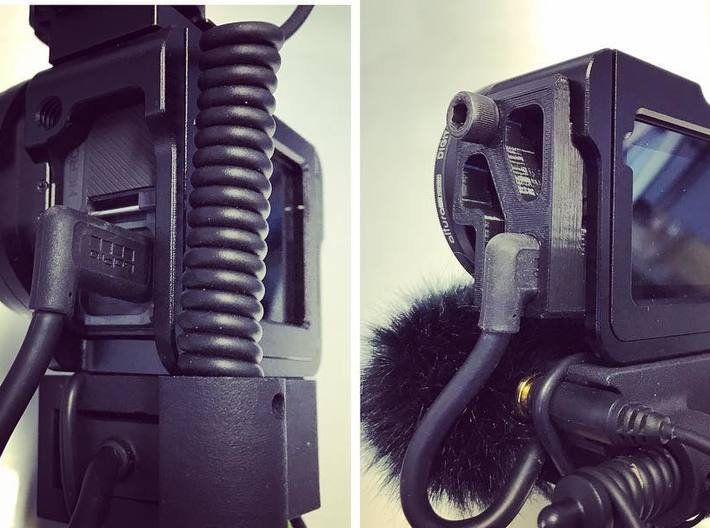 GoPro Audio Adapter USB Brace 3d printed Shown with my Audio Adapter Case