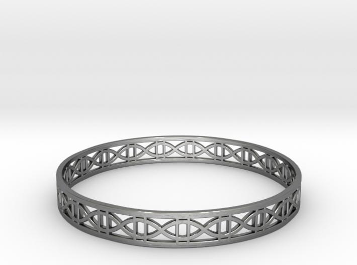 Tangentoidal Crown Curve Bracelet (001) 3d printed