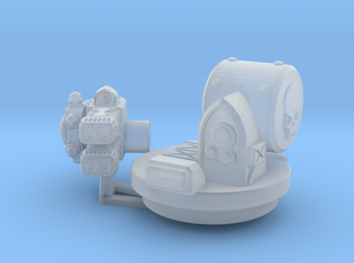 Twin Plasma Coilgun Rhinoceros Weapon 3d printed
