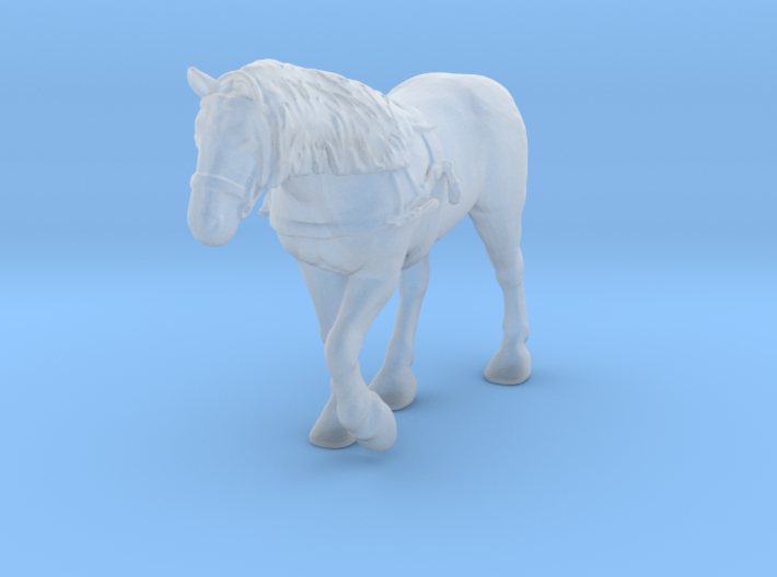 Farm Horse w/Harness 3d printed