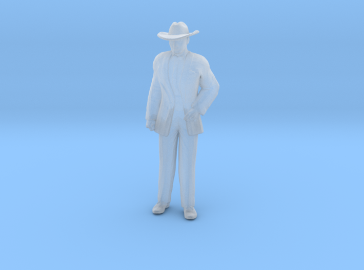 Man Standing: Suit and Hat 3d printed