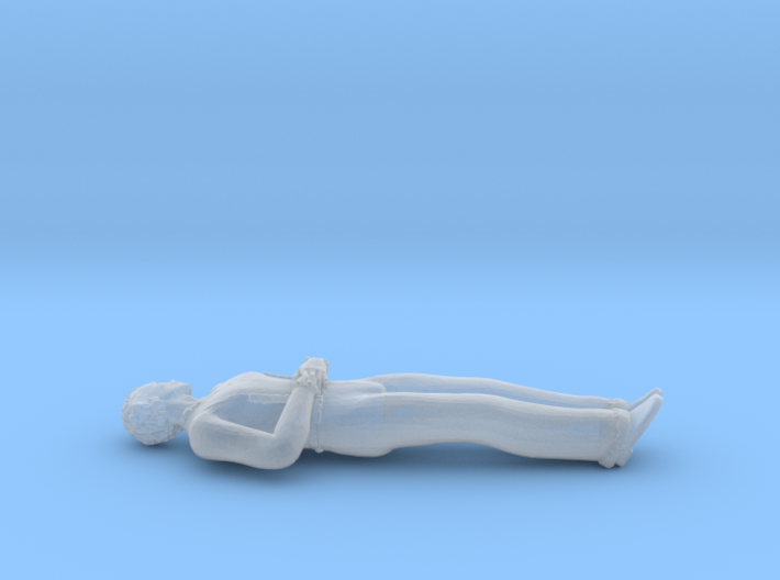 Man Lying Down: Hands on Abdomen 3d printed