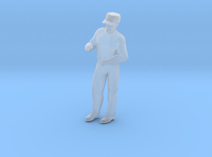 Man Standing Arms Bent: Wearing a Cap 3d printed