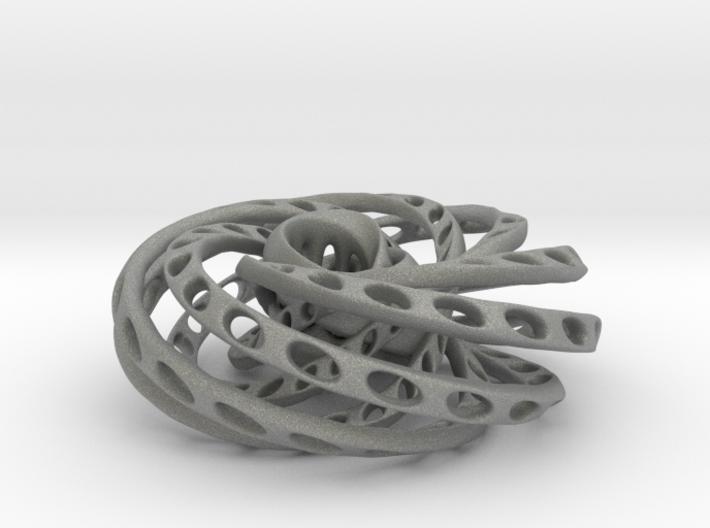 Nested Mobius strips inside torus 3d printed