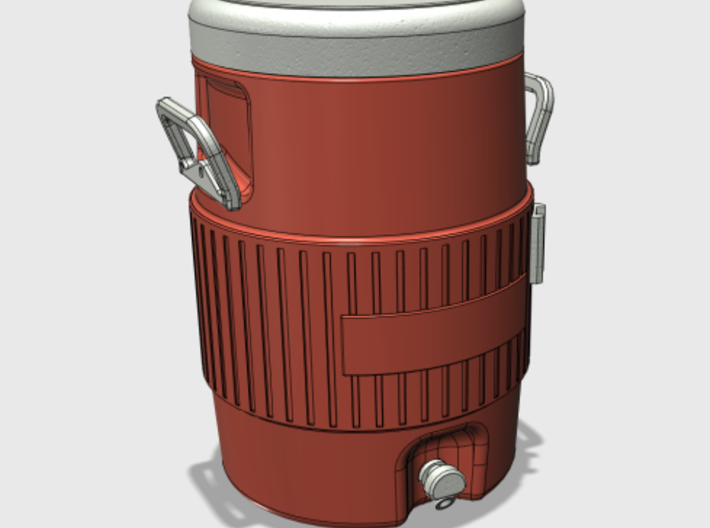 20 liter / 5 gallon water jug (1/16 scale) 3d printed CAD model - assembled