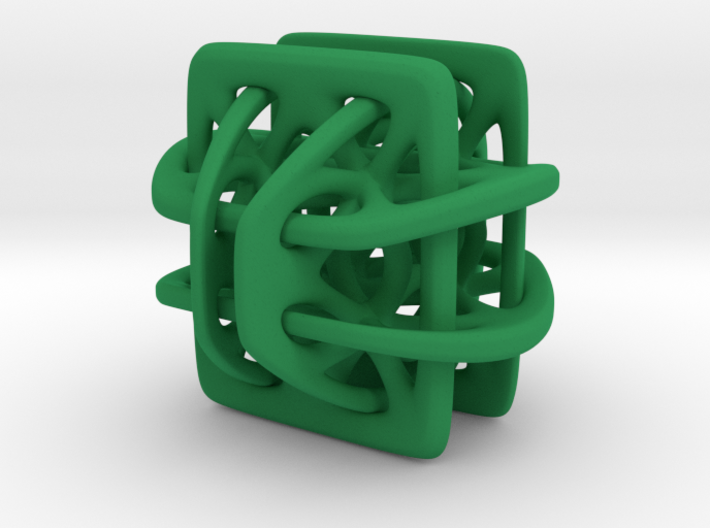 Borromean link nexus modified 3d printed