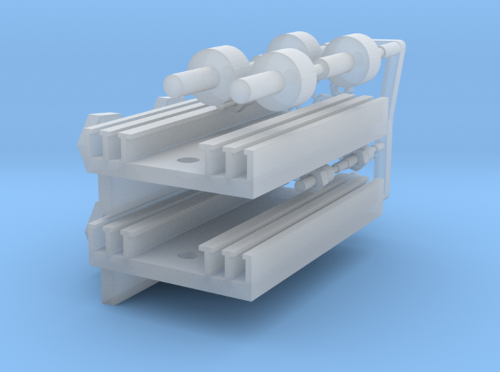 Eaglemoss delorean 1:8 rectifier heatsinks 3d printed