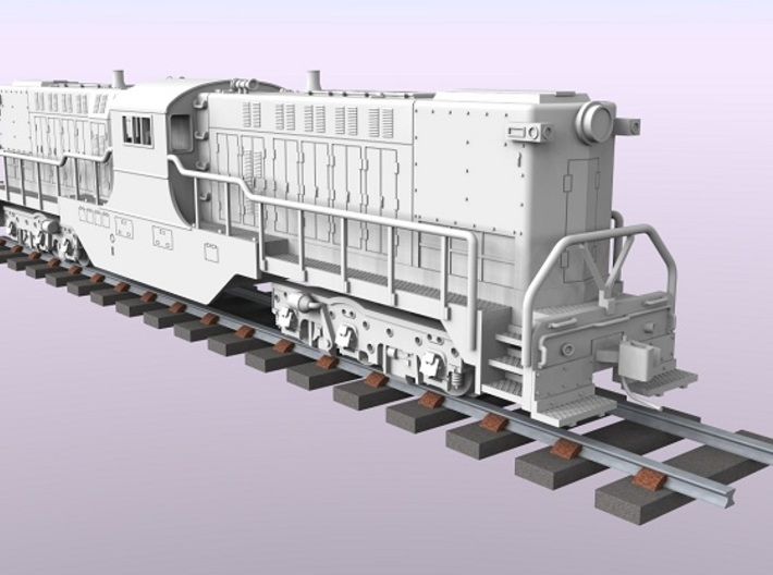 Baldwin DT6-6-2000 Center Cab N Scale 1:160 3d printed Rendered Locomotive