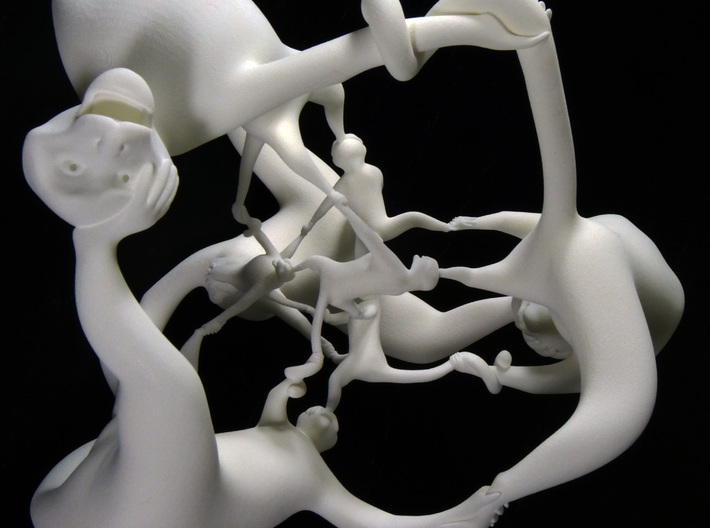 More Fun than a Hypercube of Monkeys 3d printed