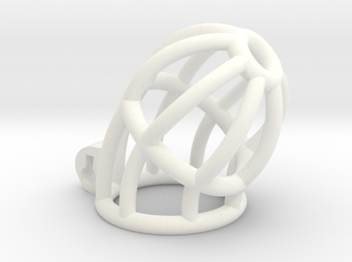 New Fun Cage - Cage - Long - Bars Ring Tip 3d printed