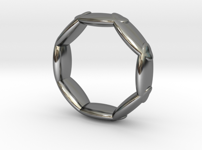 Octagonal Ring UK Size L (US Size 5 ½) 3d printed