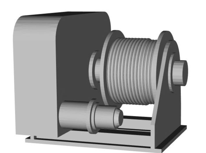 Trunnion winch 1:100 3d printed