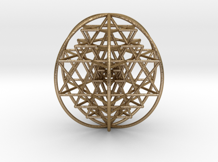 "3D Sri Yantra 6 Sided Optimal Large 3"" 3d printed"