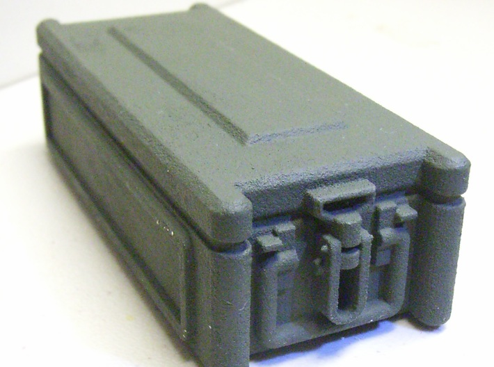 1:6 scale NATO GRENADE CASE x8 3d printed Painted green