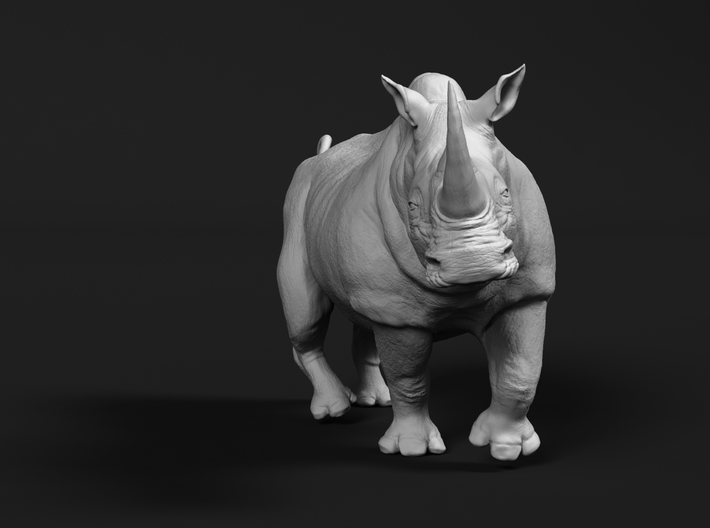 White Rhinoceros 1:48 Running Male 3d printed