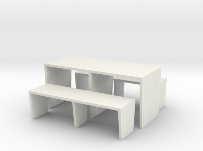 Modern Picnic Table 3d printed