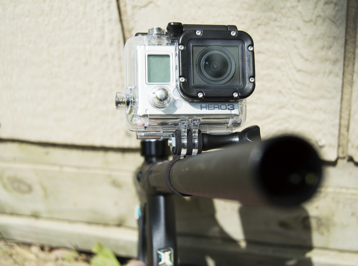 Go PRO Paintball Barrel Mount 3d printed
