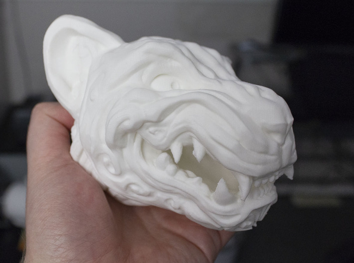 Full Colour Oni Tiger, Miniature Noh Mask 3d printed Large home print of the Tiger, Printed in PLA