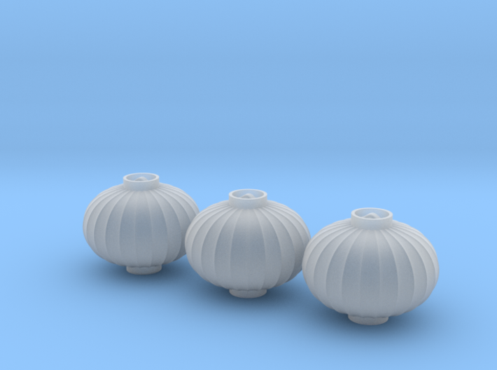 1/25th Chinese Lanterns, Ellipse, 17mm Dia x3 3d printed
