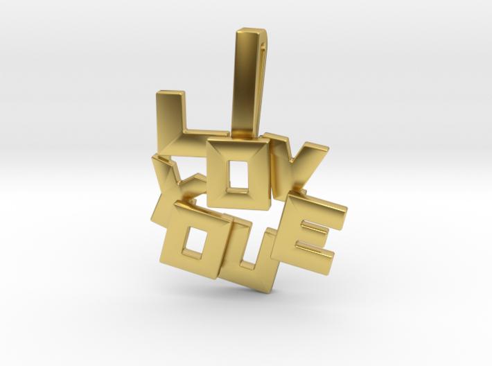 """I LOVE YOU"" Pendant 3d printed"