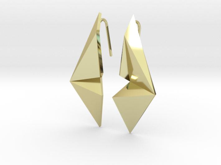 Sharp Enmotion Earrings 3d printed