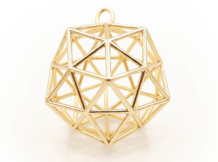 Conscious Crystal - Christ Consciousness 3d printed Conscious Crystal - Brass
