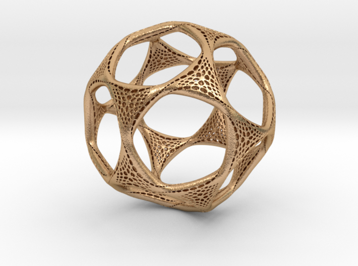 Perforated Twisted Dodecahedron 3d printed