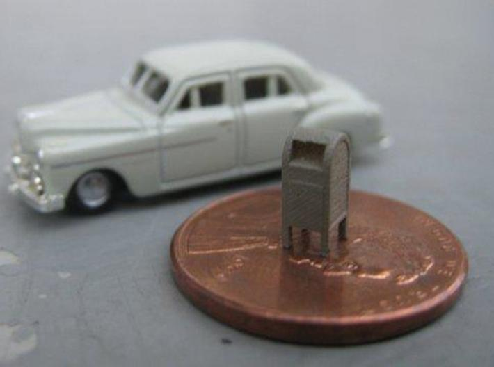 N Scale (1:160) mailboxes (Set of 12) 3d printed Vehicle pictured for scale only, not included.