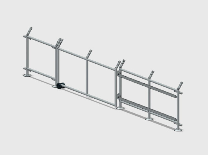 10' Chain-Link Fence - Sliding Gate - LS Latch 3d printed Part # CL-10-011
