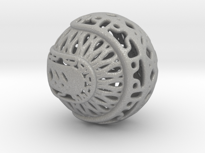 Tree of life sphere perforated 3d printed