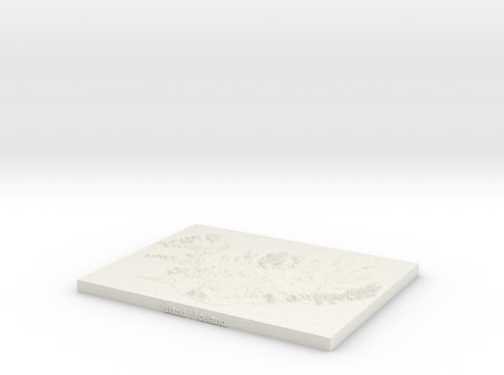 "Iceland Map, 8.5""x11"" - Plastics 3d printed"