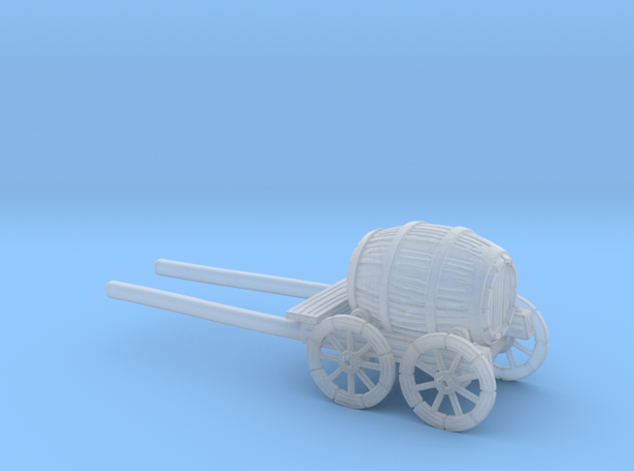 HO Scale Barrel Wagon 3d printed This is a render not a picture
