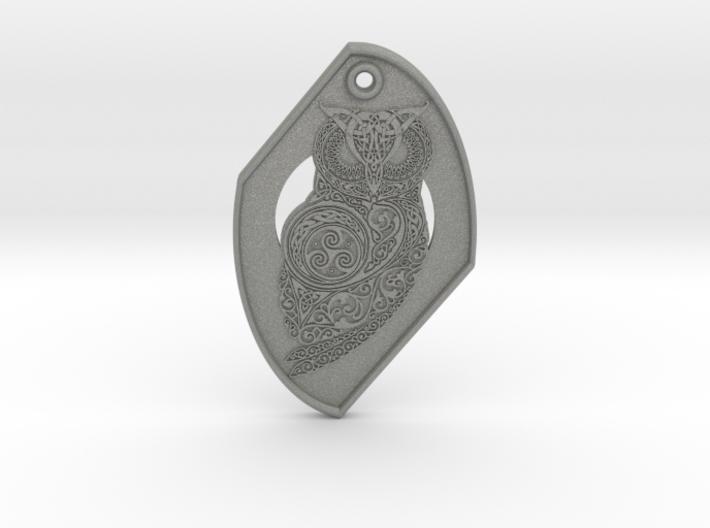 Celtic Owl Pendant 3d printed
