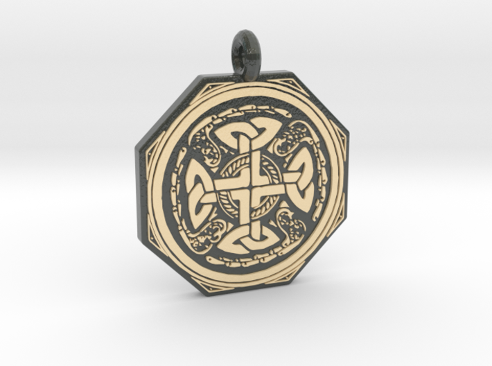 Celtic Cross Octogonal Pendant 3d printed