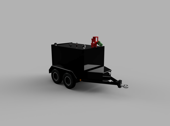 500 Gal. Fuel Transfer Trailer 1-87 HO Scale 3d printed
