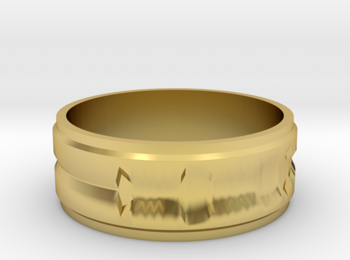 """Custom Ring made from 1 Waveforms (""""I Love You"""") 3d printed"""