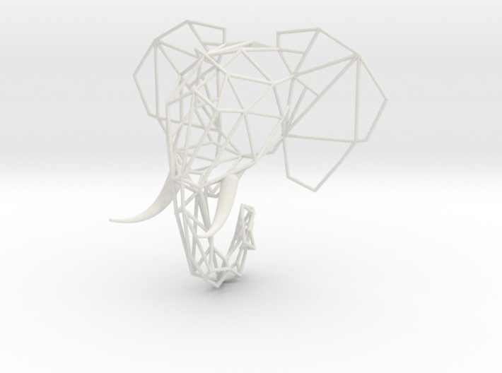 Wired Life Elephant Trophy Head Small 1:12 3d printed