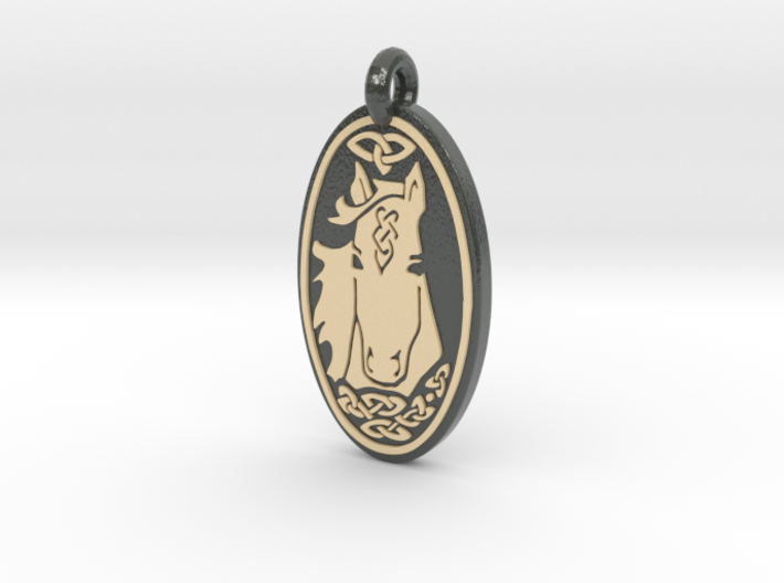 Horse - Oval Pendant 3d printed