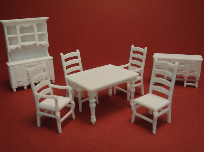 1:48 Farmhouse Dining Set 3d printed